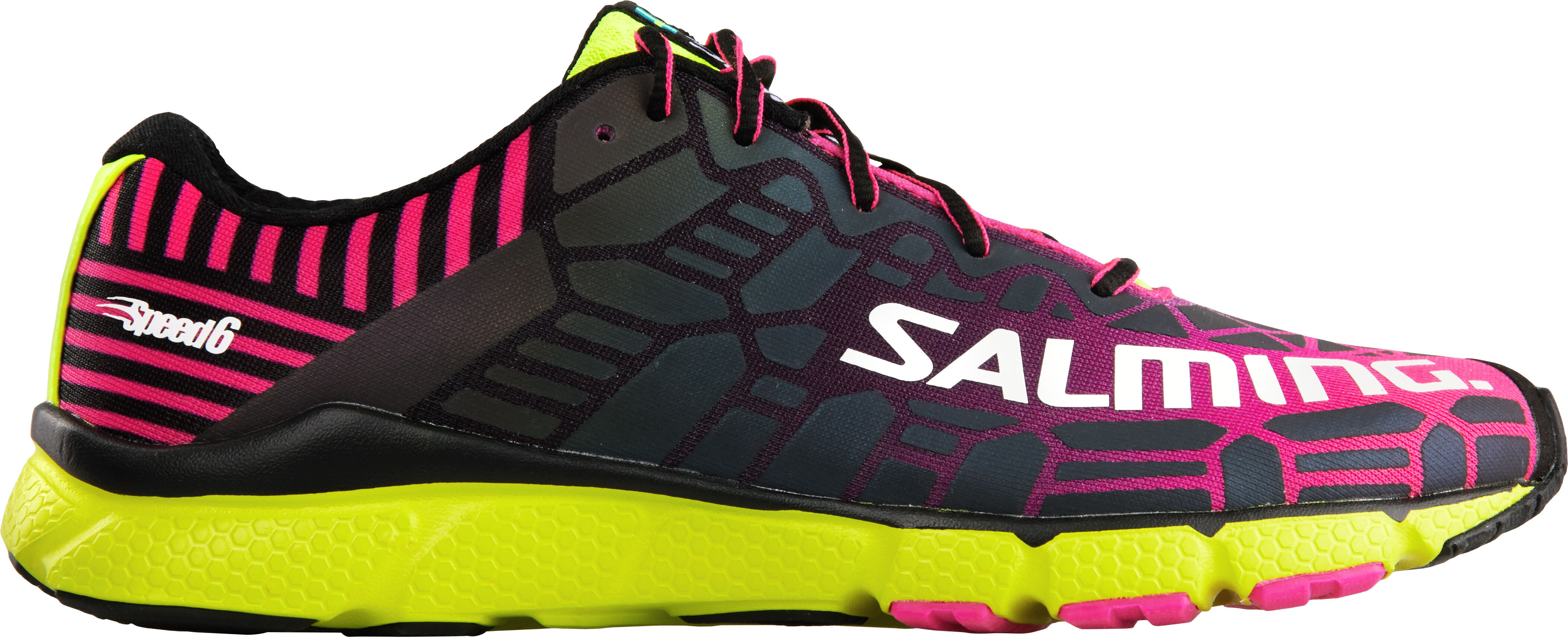 fb1fa1d21ca Salming W's Speed 6 Shoes Fluo Pink/Flou Yellow - addnature.com